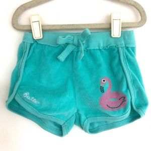 Butter Mineral Wash Terry Bejeweled Flamingo Short
